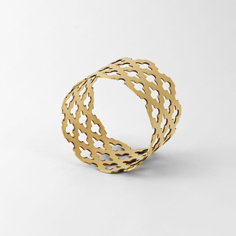 Napkin Ring Klöver - Brass | Svenskt Tenn