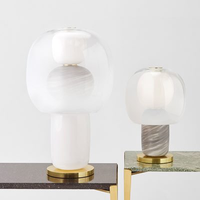 Bordslampa Fusa 45 - Glas, Neutral, Luca Nichetto | Svenskt Tenn