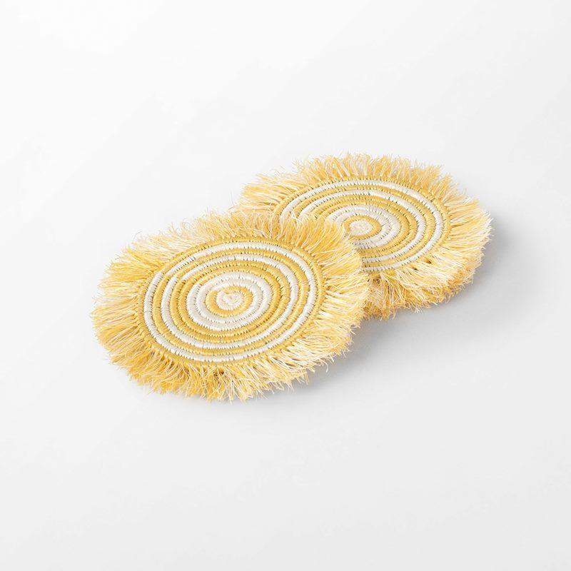 Coaster Frans - 14,5 cm, Straw, Yellow | Svenskt Tenn