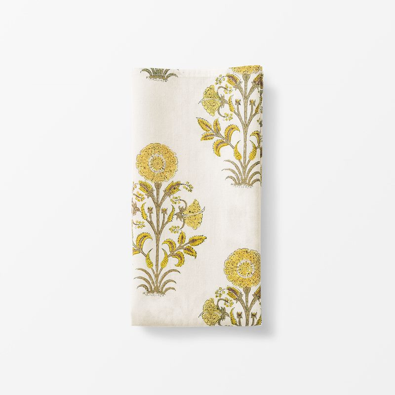 Napkin Everlasting Flower - 50x50 cm, Cotton, Yellow | Svenskt Tenn