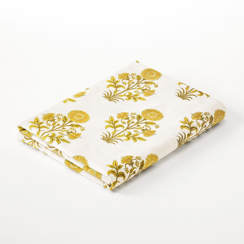 Tablemat Everlasting Flower - 145x250 cm, Cotton, Yellow | Svenskt Tenn