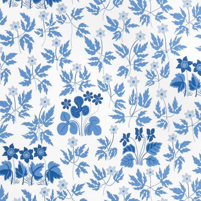 Wallpaper Stjärnmatta - Non-Woven, Stjärnmattan, Blue, Josef Frank | Svenskt Tenn