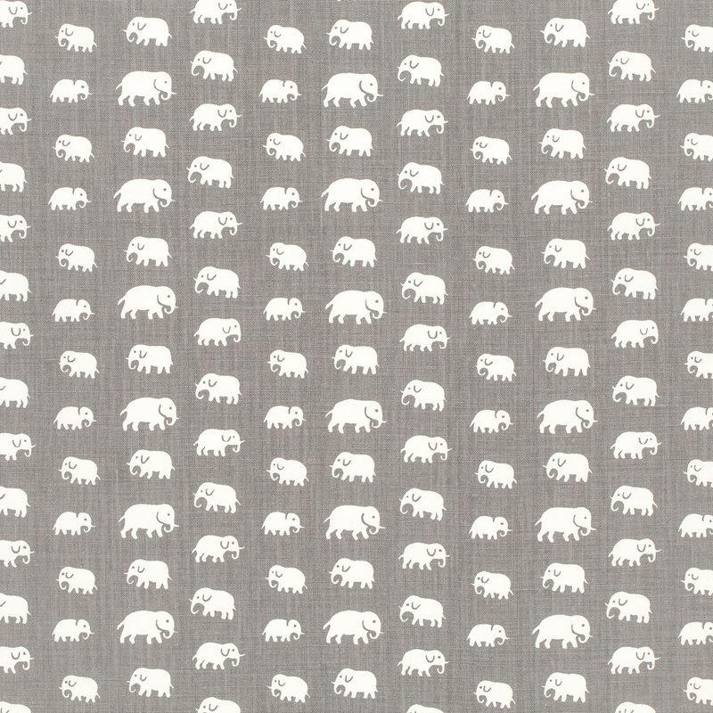 Fabric Sample Elefant - Linen, Elefant, Warm Grey | Svenskt Tenn