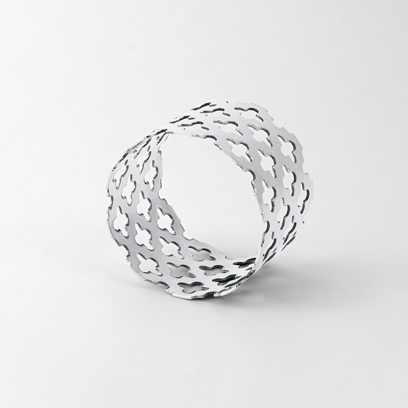 Napkin Ring Clover - Silver plated Brass | Svenskt Tenn