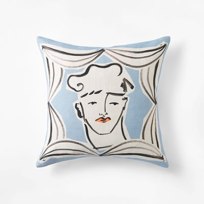 Cushion Endymion - 50x50 cm, Linen, Blue, Luke Edward Hall | Svenskt Tenn