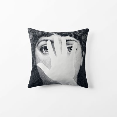 Cushion Fornasetti - 40x40 cm, Cotton, Mano, Black White, Fornasetti | Svenskt Tenn