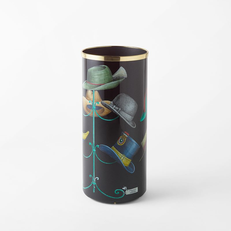 Umbrella Stand Fornasetti - 57x26 cm, Aluminium/Brass, Multi | Svenskt Tenn