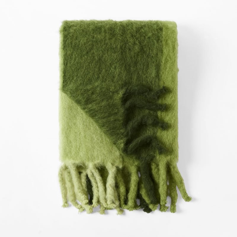 Throw Mohair - 130x180 cm, Mohair wool, Green | Svenskt Tenn