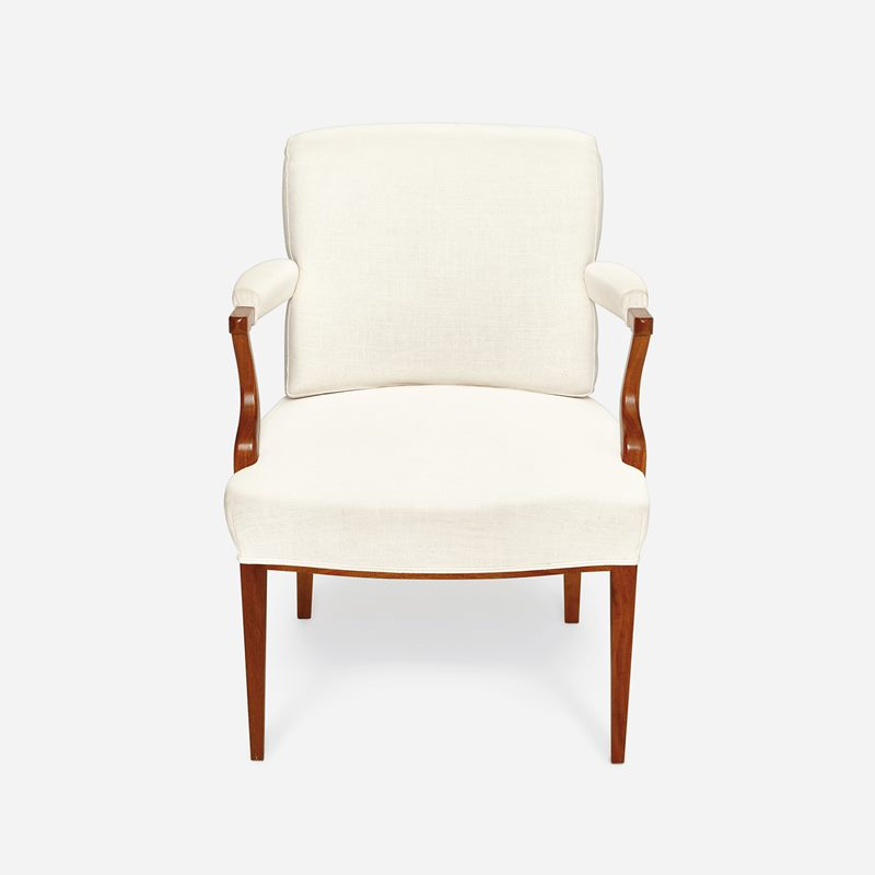 Armchair 969 Seat height 43cm - Seat height 43 cm, Mahogany | Svenskt Tenn