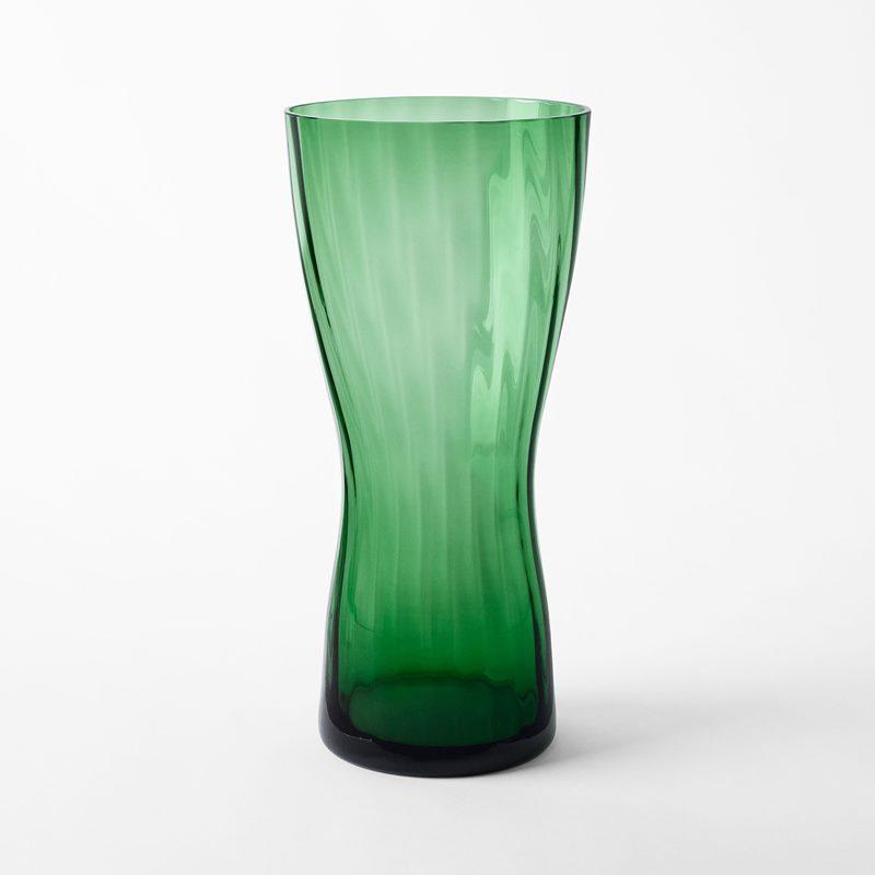 Vas Iris - 36 cm, Glas, Grön | Svenskt Tenn