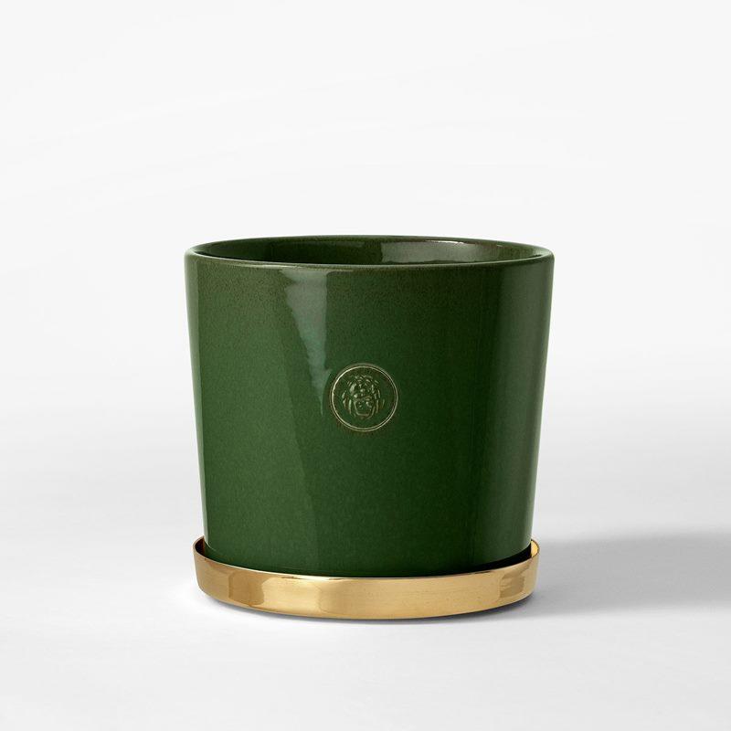 Pot Svenskt Tenn - 16 cm, Stoneware, Moss Green | Svenskt Tenn