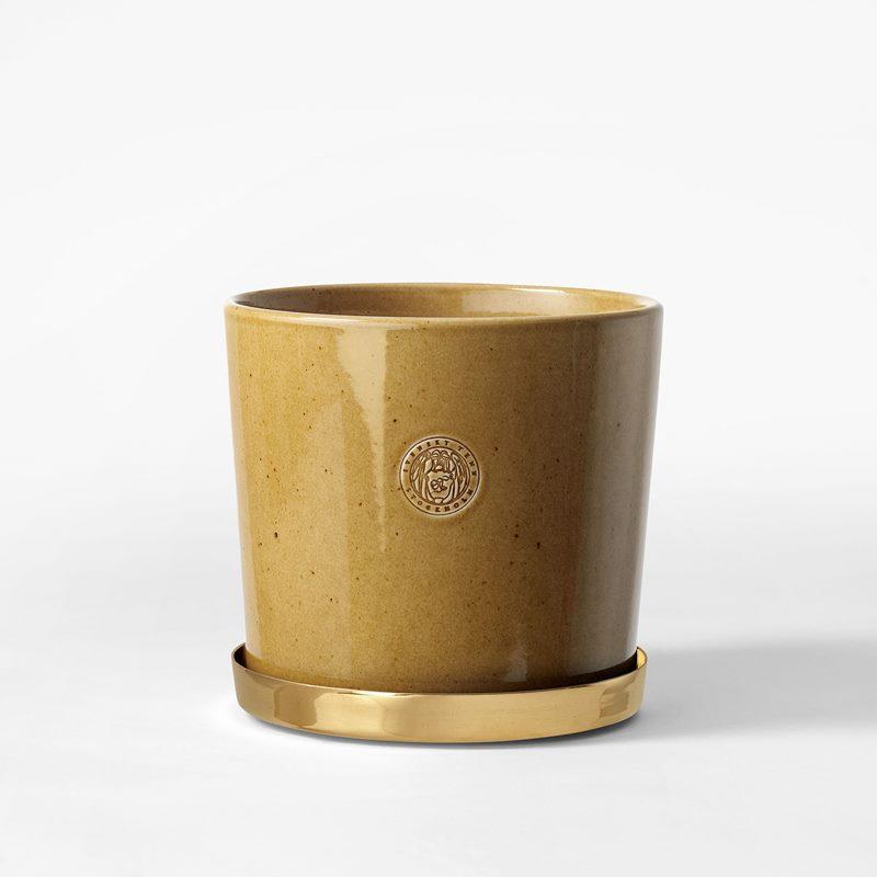Pot Svenskt Tenn - 16 cm, Stoneware, Ochre | Svenskt Tenn