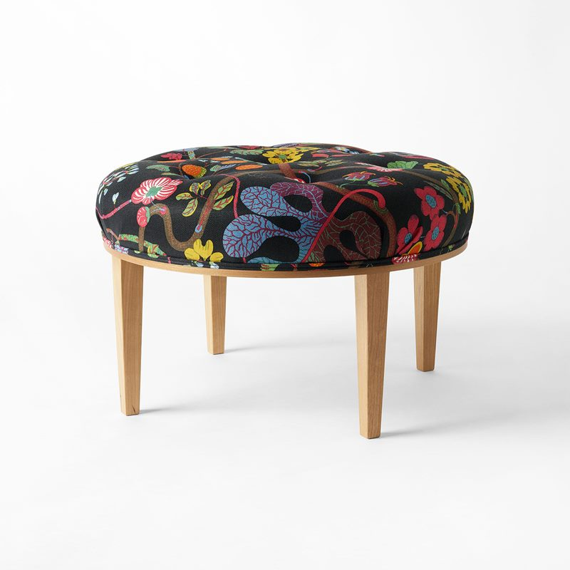 Stool 647 - Cherry, Baranquilla, Black | Svenskt Tenn
