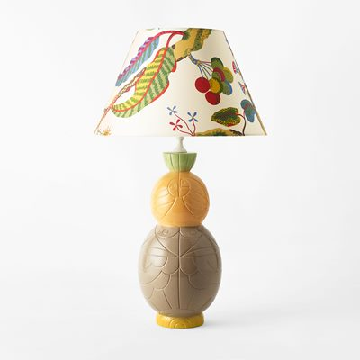 Table Lamp Sole - 40x21 cm, Ceramics, Yellow, Liselotte Watkins | Svenskt Tenn