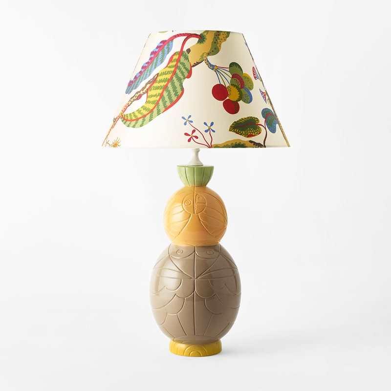 Table Lamp Sole - 40x21 cm, Ceramics, Yellow | Svenskt Tenn