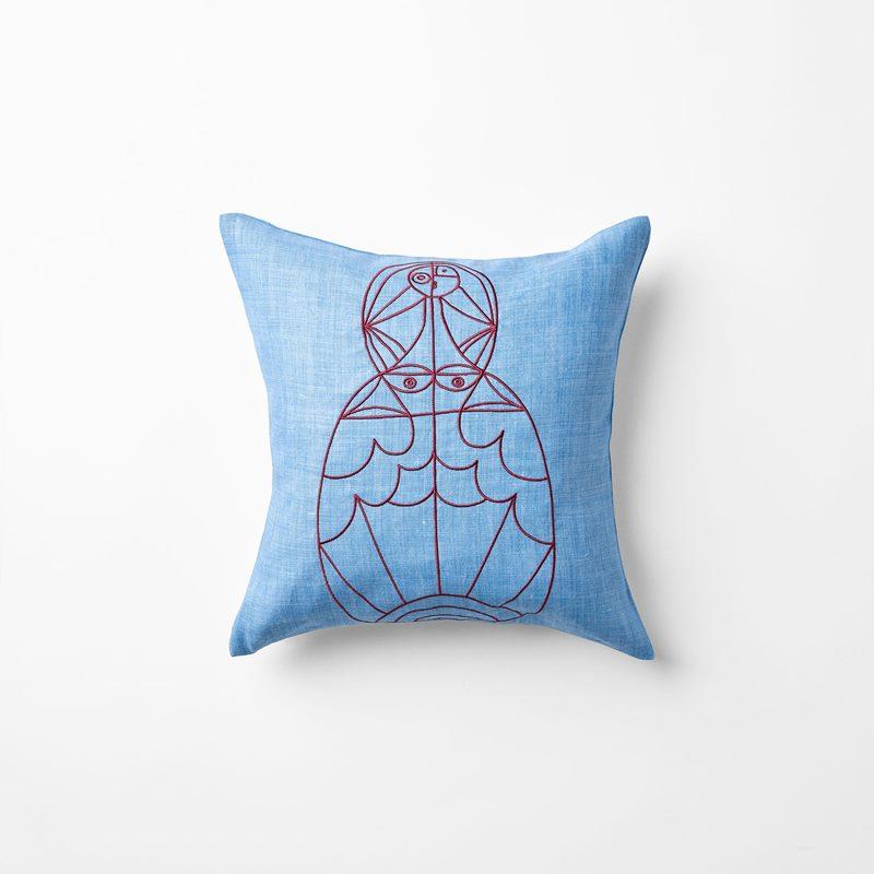 Cushion Senora - 40x40 cm, Linen, Azzurro, Light Blue | Svenskt Tenn