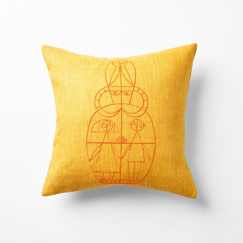 Cushion Senora - 50x50 cm, Linen, Giallo, Yellow | Svenskt Tenn