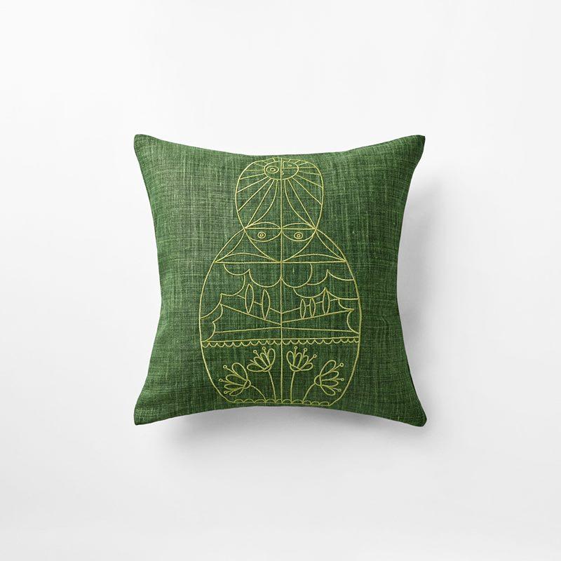 Cushion Senora - 40x40 cm, Linen, Verde, Ivy Green | Svenskt Tenn