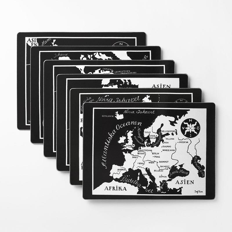 Underlägg Världskarta - Världskarta, Rektangulär | Svenskt Tenn