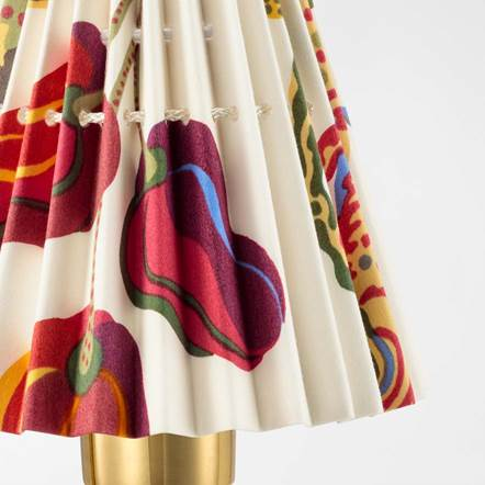 Lampshade Pleated Vegetable Tree Svenskt Tenn