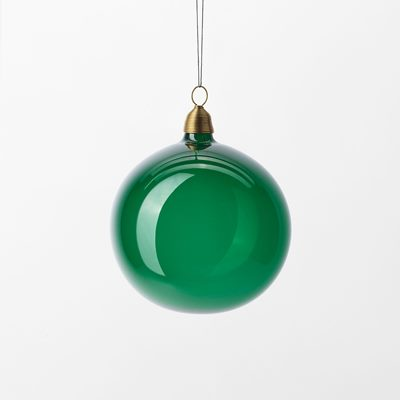 Christmas Bauble - 8 cm, Glass, Green, Svenskt Tenn | Svenskt Tenn
