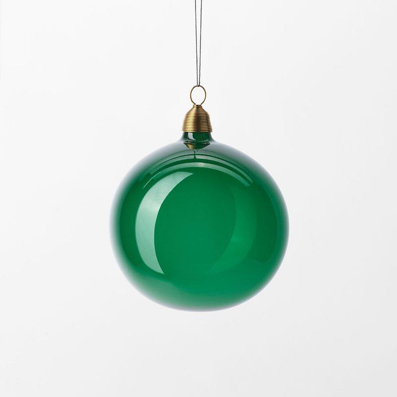 Christmas Bauble - 8 cm, Glass, Green | Svenskt Tenn