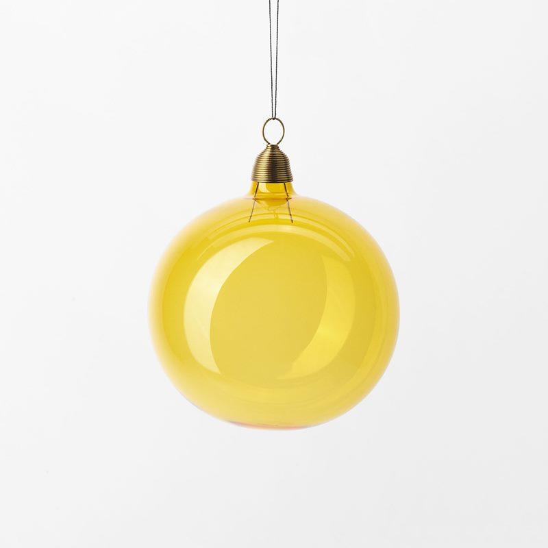Hänge Julkula - 8 cm, Glas, Gul | Svenskt Tenn