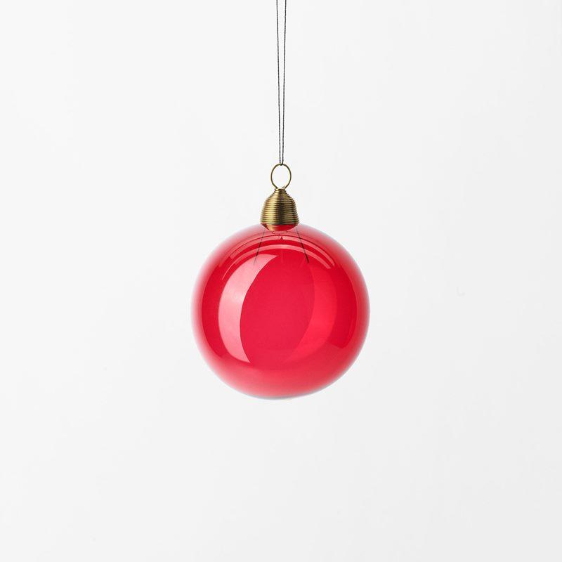 Christmas Bauble - 6 cm, Glass, Red | Svenskt Tenn