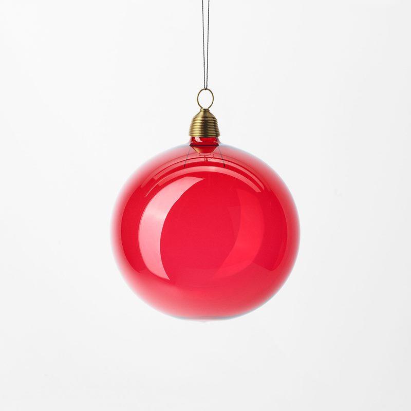 Christmas Bauble - 8 cm, Glass, Red | Svenskt Tenn