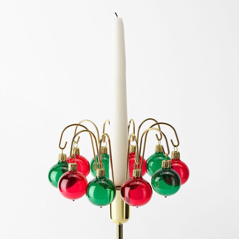 Christmas Baubles - 3 cm, Glass, Red Green | Svenskt Tenn