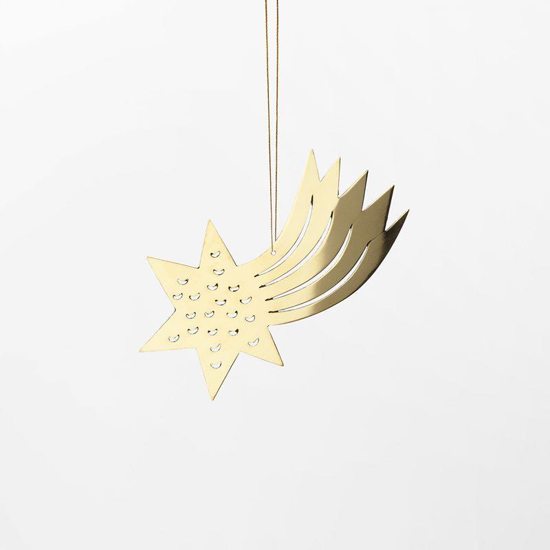 Decoration Milky Way - 10 cm, Brass, Comet | Svenskt Tenn