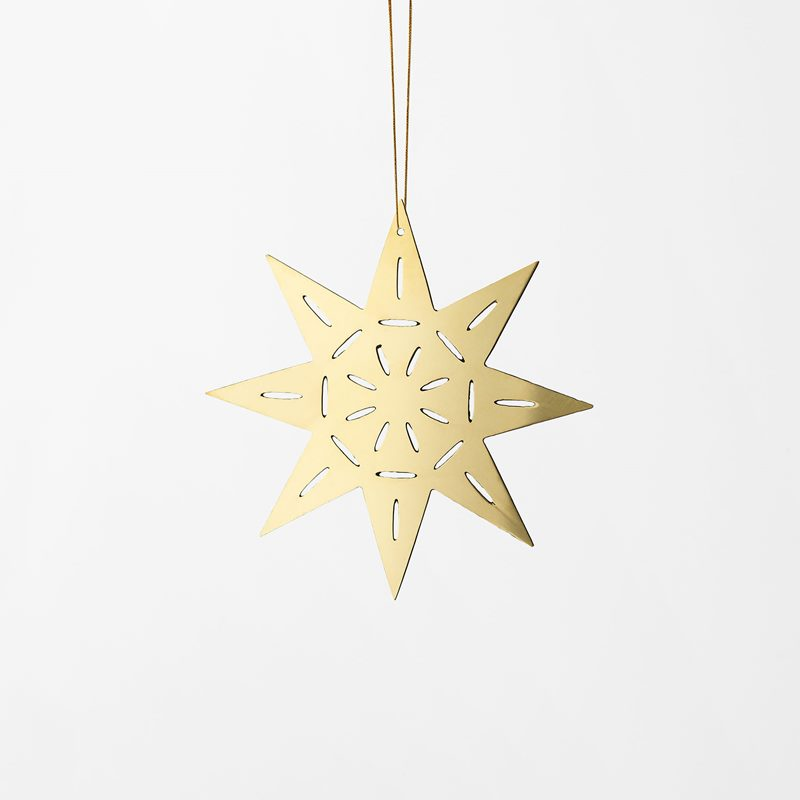 Decoration Milky Way - 9 cm, Brass, Star | Svenskt Tenn