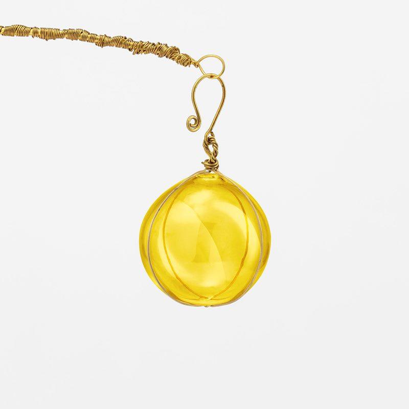 Decoration Wish Ball - Glass, Yellow | Svenskt Tenn