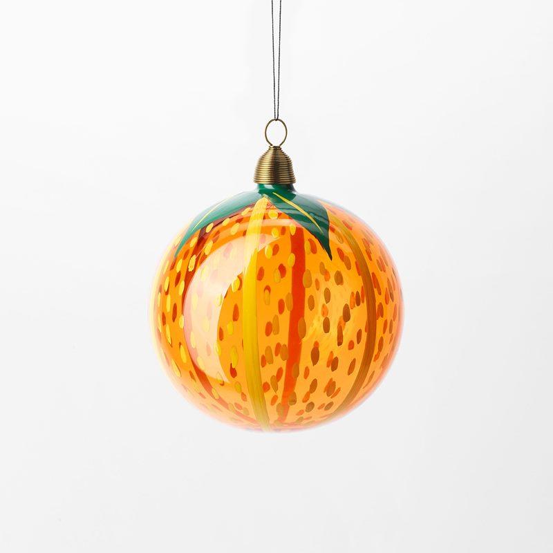Bauble Fruits of Eden - 8 cm, Glass, Apelsin, Orange | Svenskt Tenn