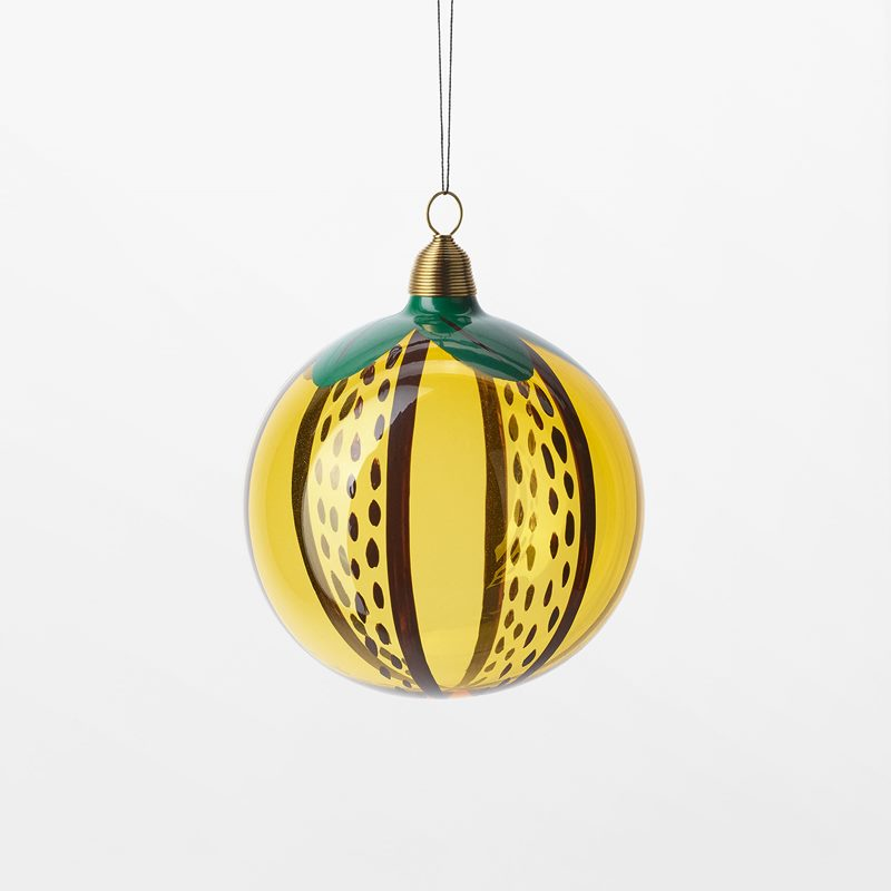 Bauble Fuits of Eden - 8 cm, Glass, citron, Yellow | Svenskt Tenn