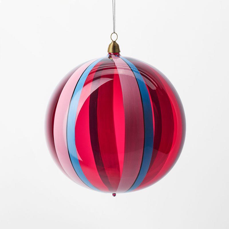 Bauble Musk Melon - 15 cm, Glass, Muskmelon, Red | Svenskt Tenn