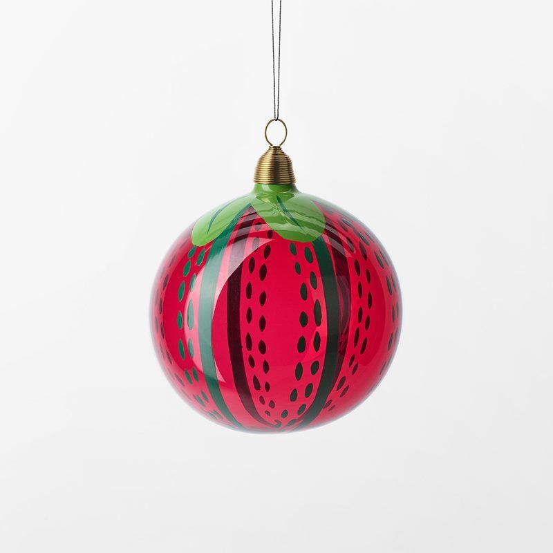 Bauble Fruits of Eden - 8 cm, Glass, Tomat, Red | Svenskt Tenn