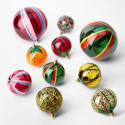 Bauble Fruits of Eden - 15 cm, Glass, Vattenmelon, Green, Sam Wilde | Svenskt Tenn
