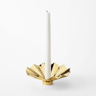 Candle Ring Pleated - Brass, Ulla Christiansson | Svenskt Tenn