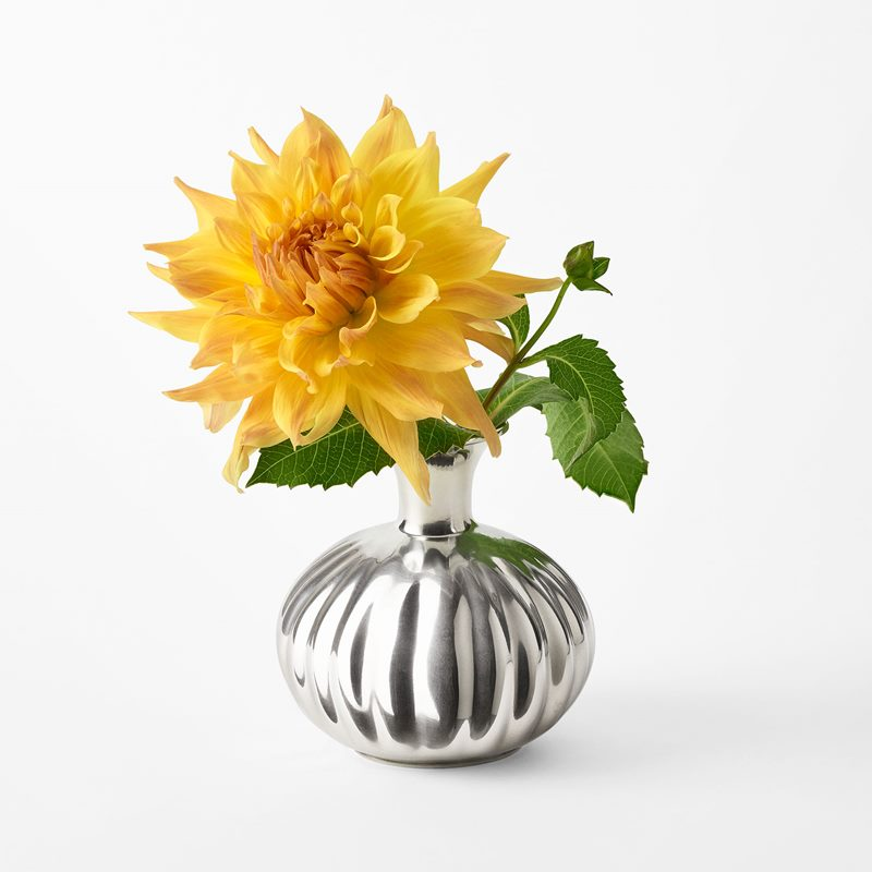 Vase Pumpkin - 15x13x12 cm, Pewter | Svenskt Tenn