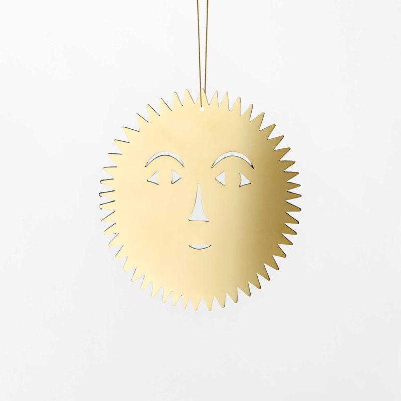 Decoration Milky Way - 10 cm, Brass, Sun | Svenskt Tenn