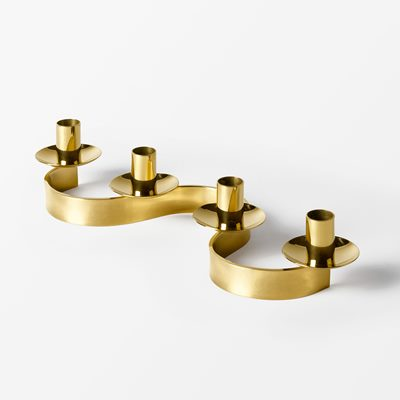 Candle Holder Slingan - Brass, Josef Frank | Svenskt Tenn