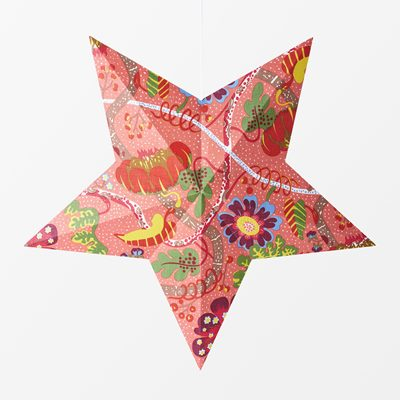 Advent Star Lamp Svenskt Tenn - 69x69x13 cm, Linen, Mirakel, Star, Red, Josef Frank/Svenskt Tenn | Svenskt Tenn