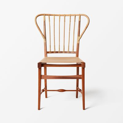Chair 1179 - Mahogany, Rattan & Leather, Nature, Josef Frank | Svenskt Tenn