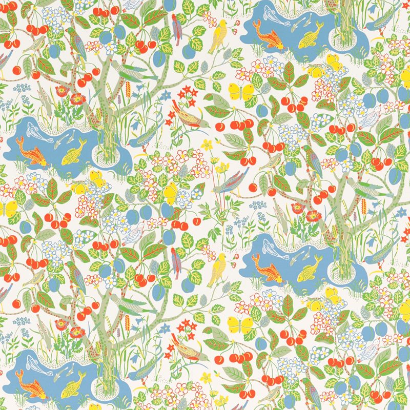 Wallpaper Sample Paradiset - Non-Woven, Paradiset, White | Svenskt Tenn