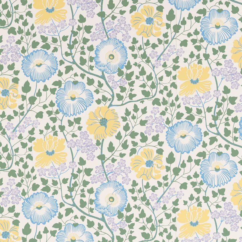 Wallpaper Sample Sagoträdet - Paper, Sagoträdet, Blue | Svenskt Tenn