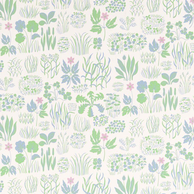 Wallpaper Söndagsmorgon - Non-Woven, Söndagsmorgon, Pink | Svenskt Tenn