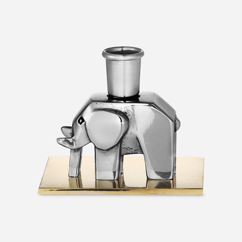 Candleholder Elephant - Pewter | Svenskt Tenn