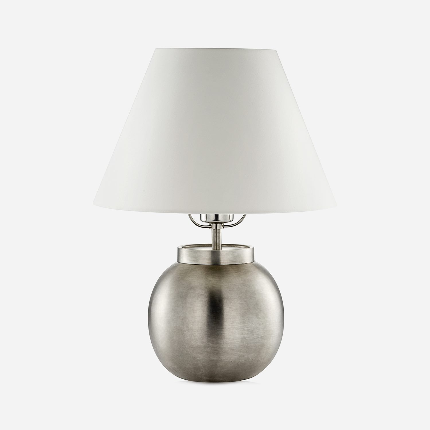 Table Lamp Ball Pewter