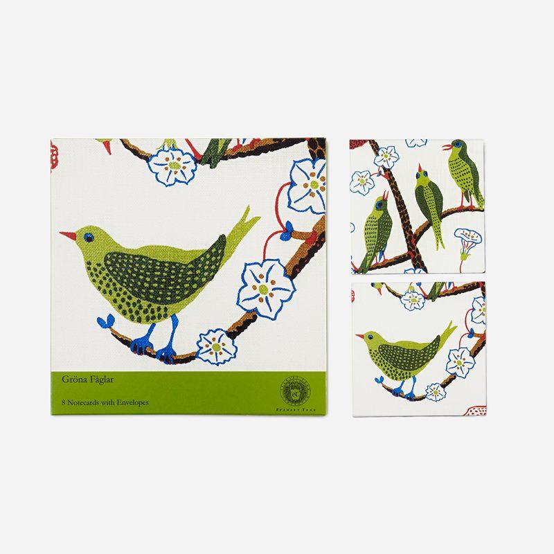 Kort Gröna Fåglar - 8-Pack, Gröna Fåglar | Svenskt Tenn